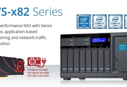 QNAP TVS-x82 High-Performance NAS Announced