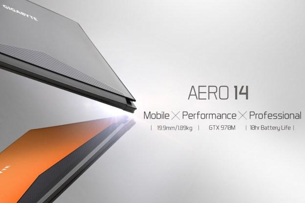 GIGABYTE Aero 14 Gaming Laptop Revealed