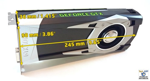 NVIDIA GeForce GTX 1060 Founder's Edition size