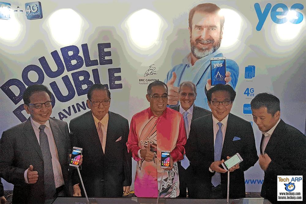 Yes 4G LTE Network Launch - Datuk Seri Panglima (Dr.) Salleh Said Keruak, Tan Sri Dato' Seri Panglima (Dr) Yeoh Tiong Lay, Tan Sri Dato' (Dr.) Francis Yeoh Sock Ping & Jacob Yeoh
