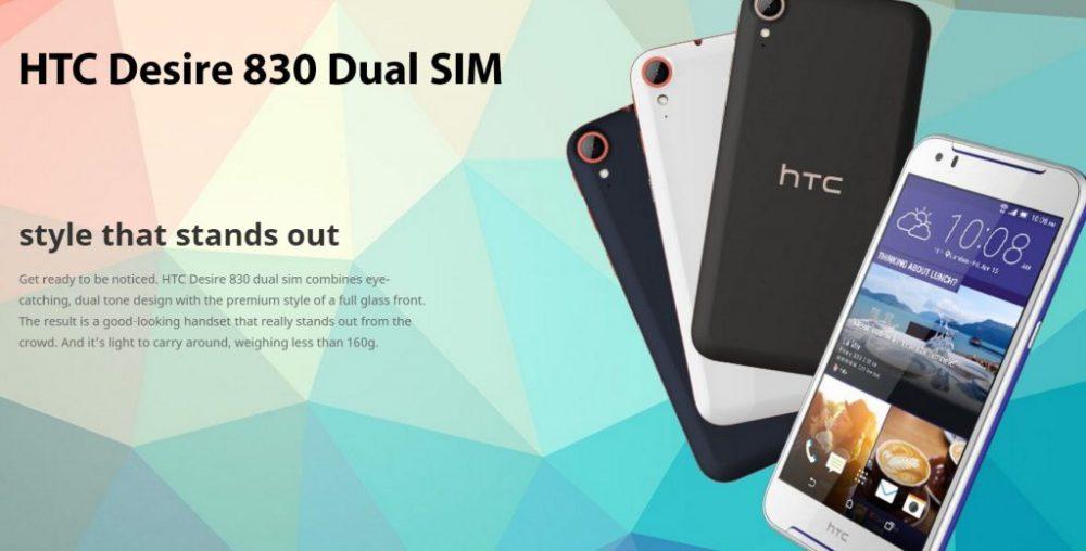 HTC DESIRE 830 Dual SIM Announced