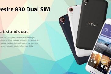 HTC Desire 830 Dual SIM Smartphone Announced