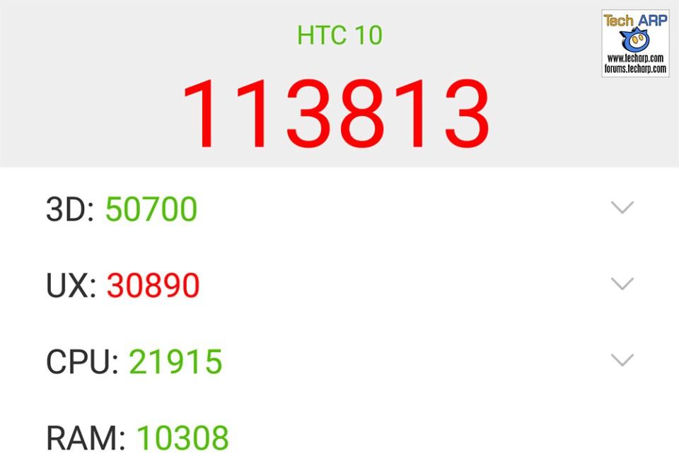 HTC 10 AnTuTu results