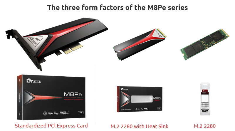 PLEXTOR M8Pe SSD Series Announced