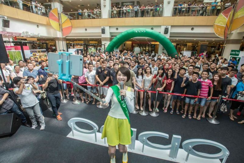 Min Chen joined OPPO F1s Roadshow @ Penang