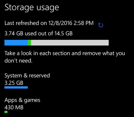 Wise Pad W7 free storage capacity