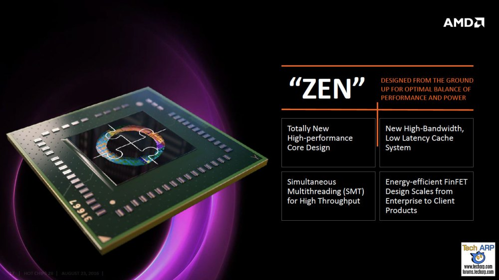 AMD Zen Sneak Peek @ Hot Chips 2016