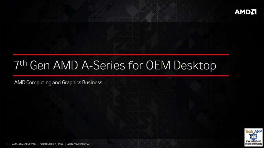 The 7th Generation AMD A-Series Desktop APUs Revealed