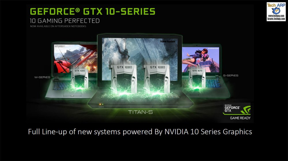 Aftershock GeForce GTX 10 gaming laptops