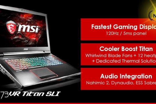 MSI GT83 Gaming Laptop with GeForce GTX 1080 SLI