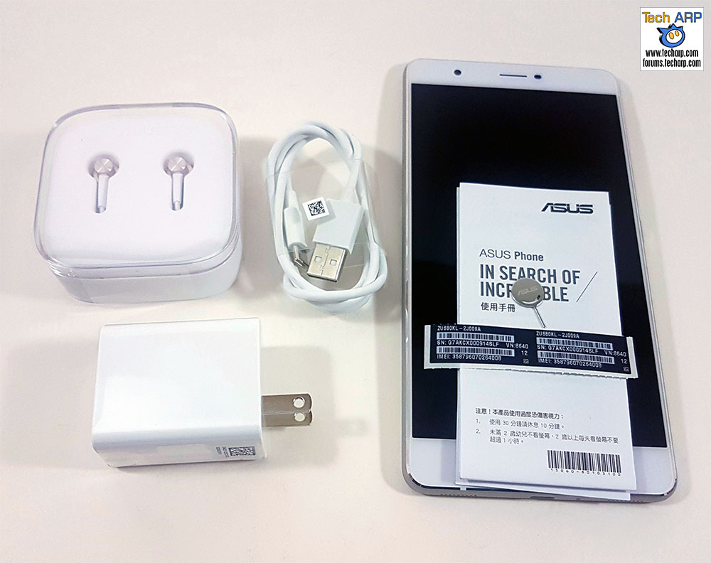 The ASUS ZenFone 3 Ultra contents