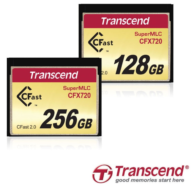 Transcend SuperMLC CFast 2.0 CFX720 Memory Cards Released