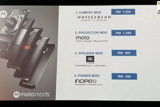The Moto Mods Prices