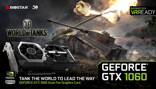BIOSTAR GTX 1060 VR-Ready Gaming Solution Announced