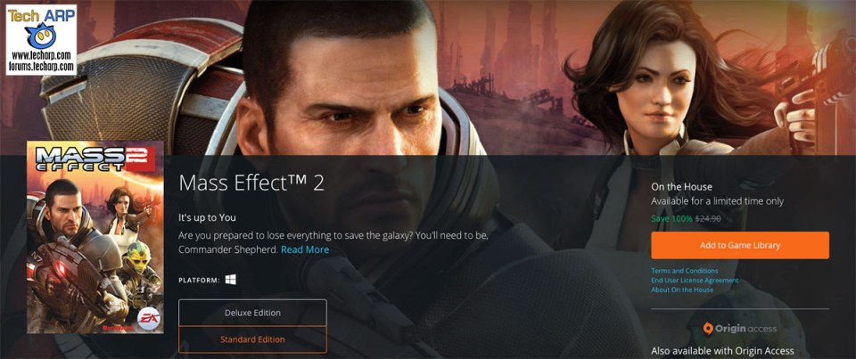 Mass Effect 2 Is Now FREE For A Limited Time!