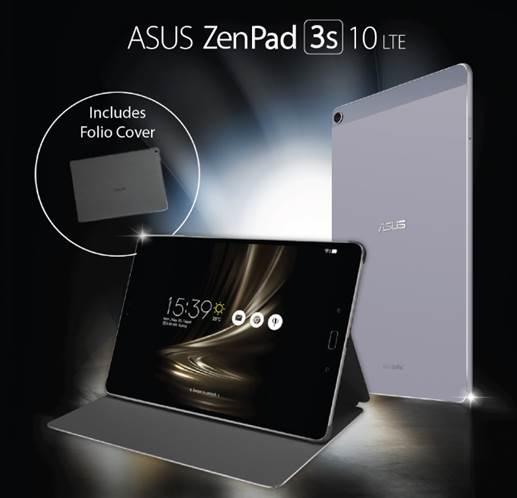 ASUS Announces ZenPad 3S 10 LTE