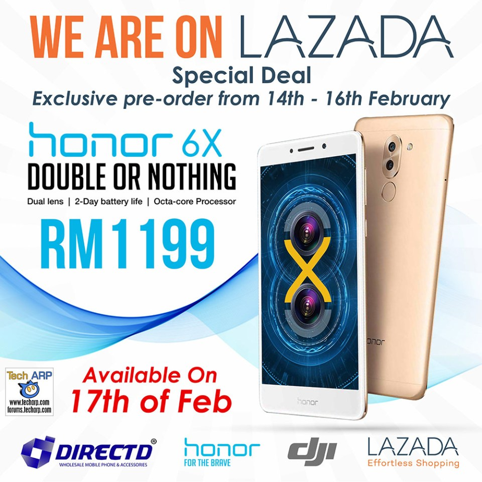 The honor 6X pre-order