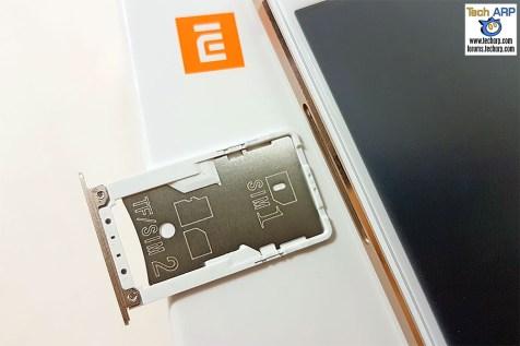 The Xiaomi Redmi Note 4 (Helio X20 Model) hybrid SIM tray