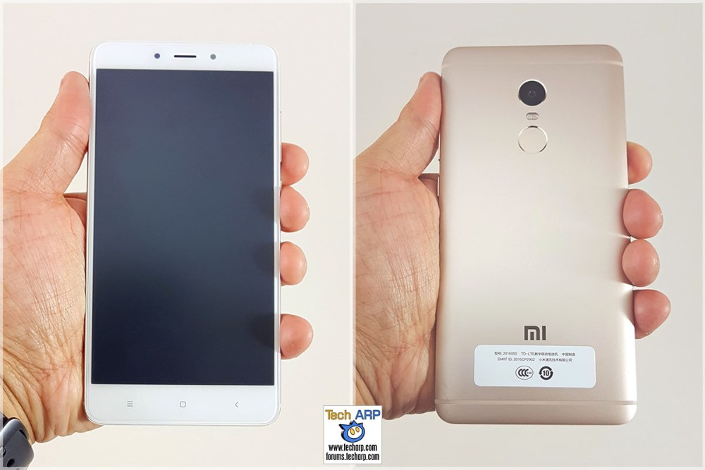 The Xiaomi Redmi Note 4 (Helio X20 Model) in hand