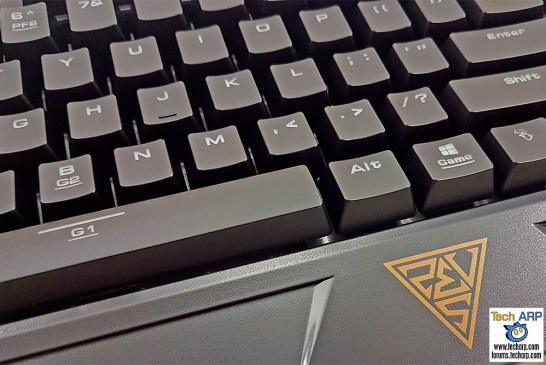 The GAMDIAS Hermes RGB Mechanical Gaming Keyboard keys