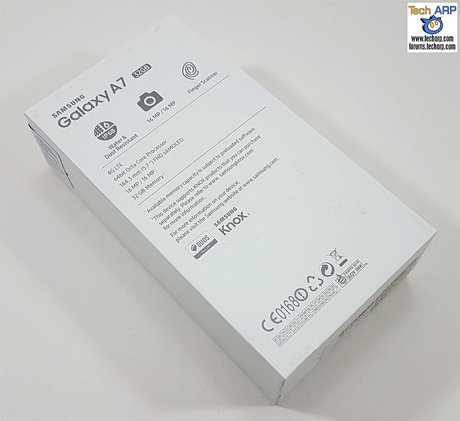 The 2017 Samsung Galaxy A7 (SM-A720F) box