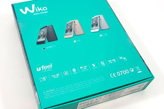 The Wiko U Feel Prime box