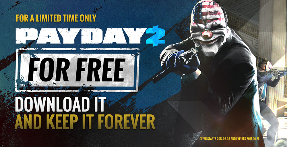 5 MILLION Copies Of Payday 2 Absolutely FREE On Steam!