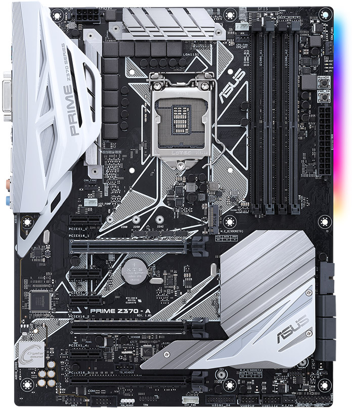 The ASUS PRIME Z370-A motherboard