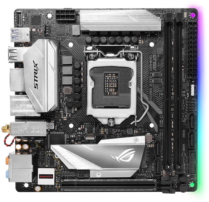 The ASUS ROG Strix Z370-I Gaming motherboard