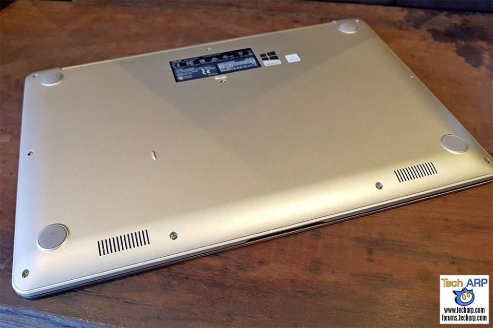 ASUS VivoBook S15 laptop underside