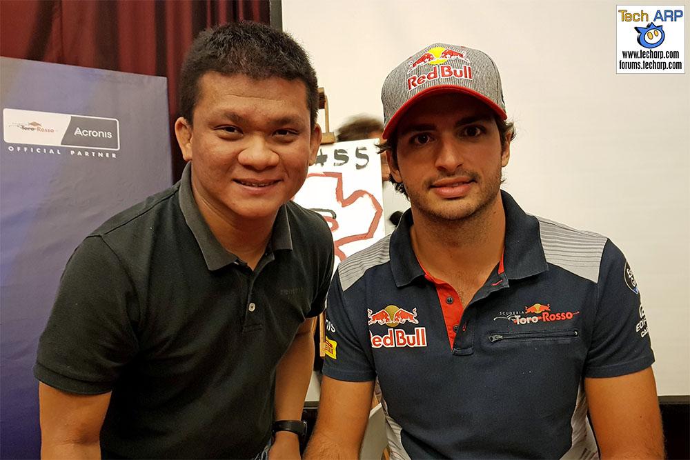 An Evening With Scuderia Toro Rosso & Acronis - Carlos Sainz & Adrian