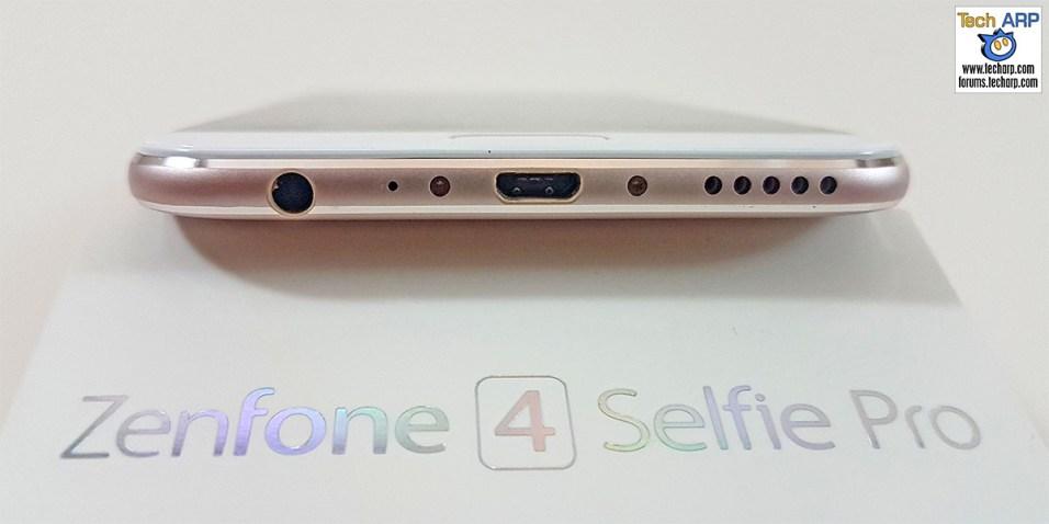The ASUS ZenFone 4 Selfie Pro (ZD552KL) smartphone bottom