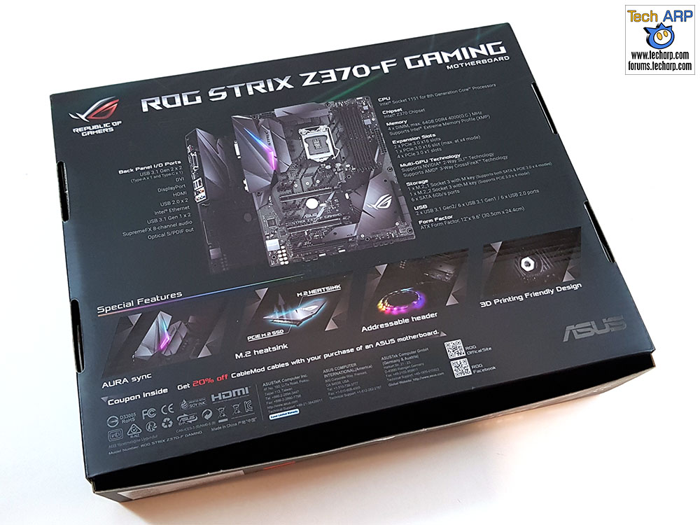 ASUS ROG Strix Z370-F Gaming box