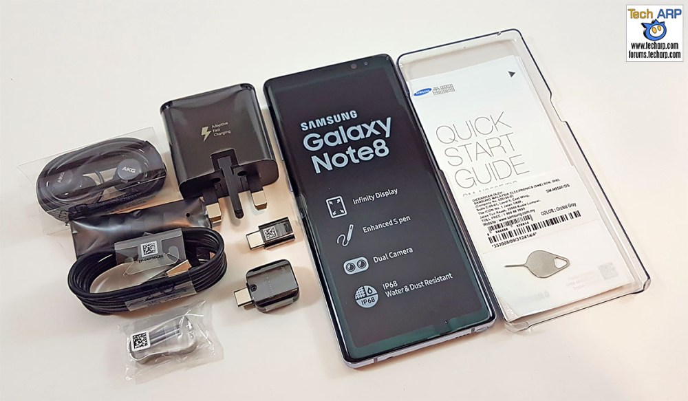 The Samsung Galaxy Note8 box contents