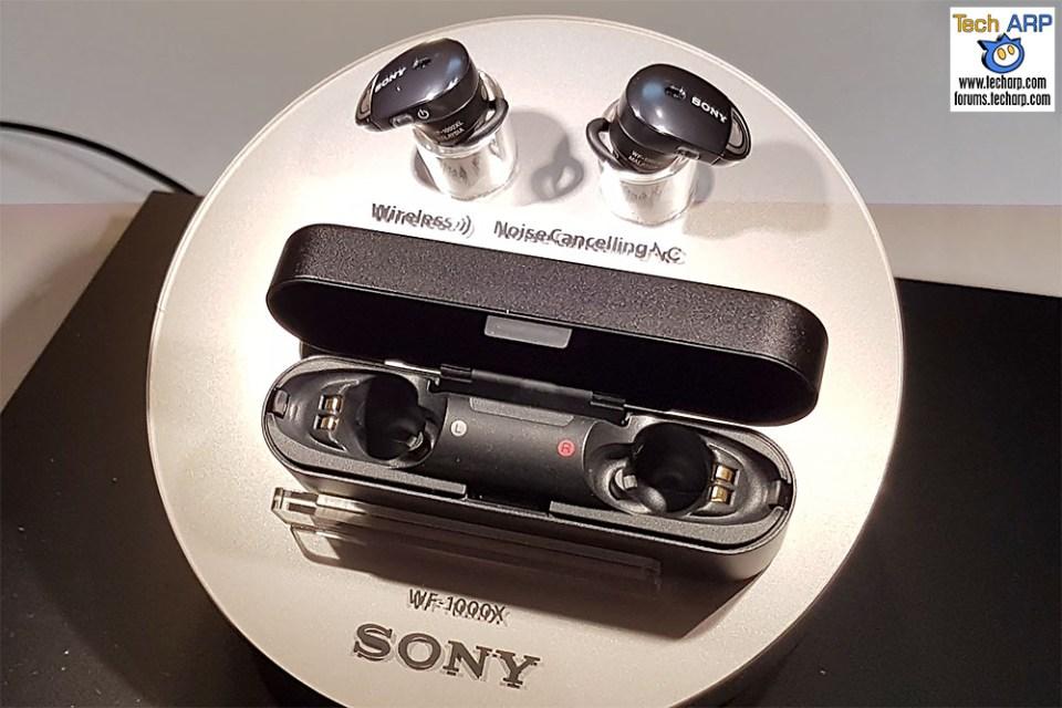 The Sony WF-1000X wireless ear buds