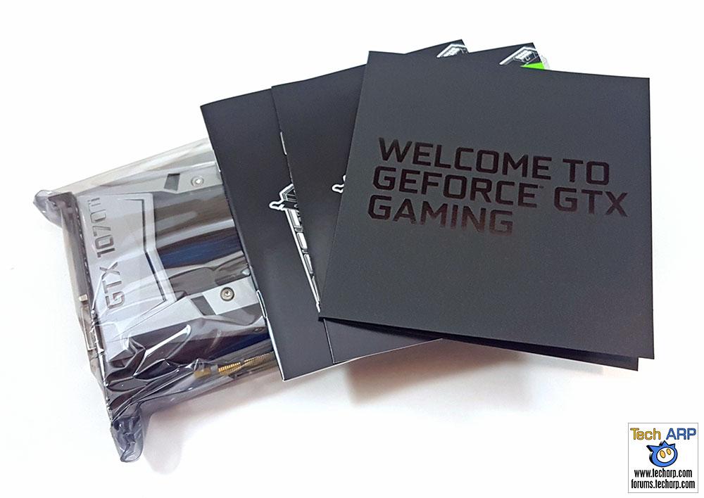 NVIDIA GeForce GTX 1070 Ti box contents