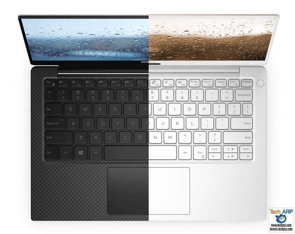 The Dell XPS 13 2018 (9370) colour comparison