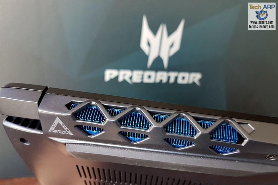 Acer Predator Triton 700 cooling vents