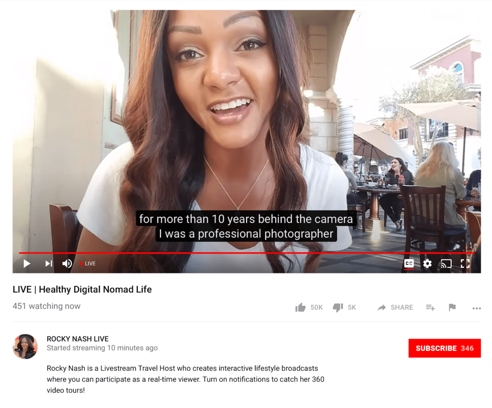 New YouTube Live Streaming Features