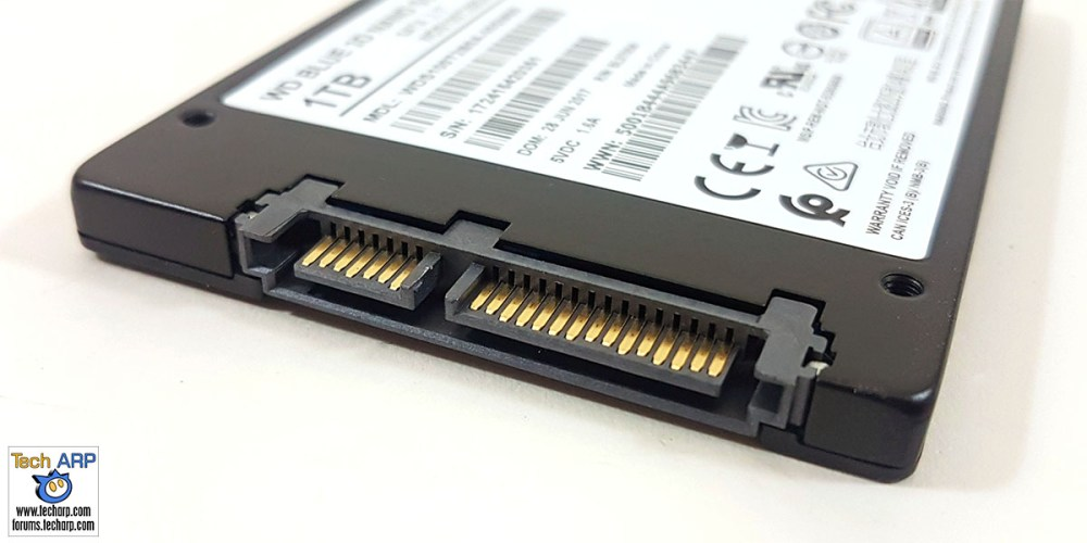 The 1TB WD Blue 3D SSD connector