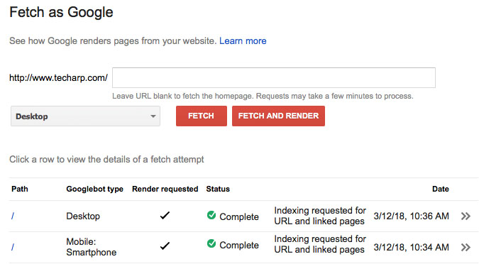 How To Reindex Your Website Using Google Search Console - Fetch as Google