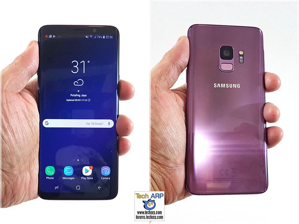 Samsung Galaxy S9 in hand