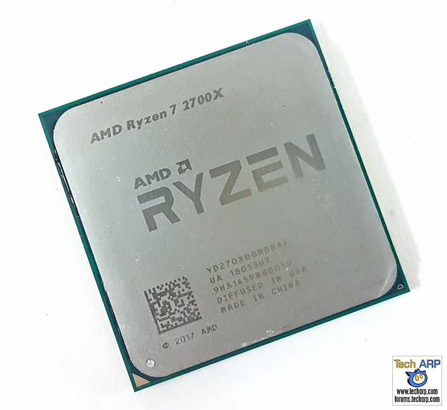 AMD Ryzen 7 2700X CPU top