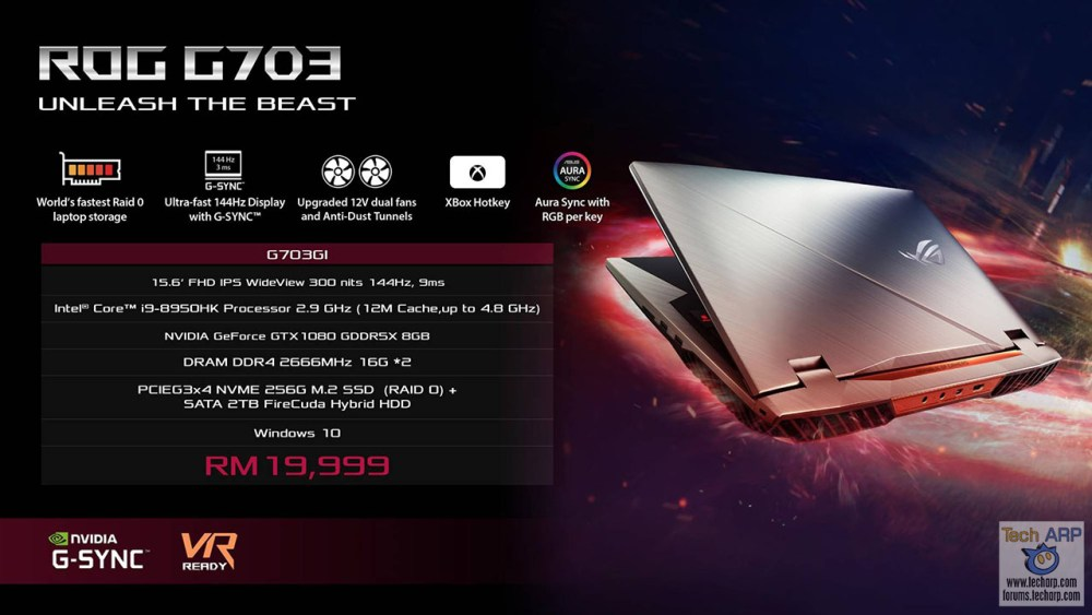 ASUS Coffee Lake Gaming Laptop - ASUS ROG G703