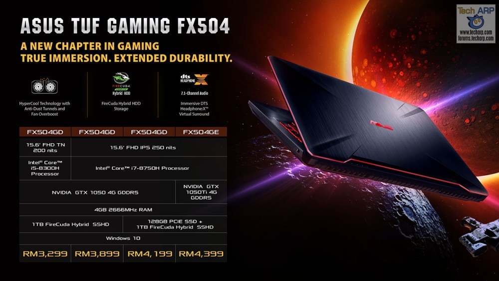 ASUS Coffee Lake Gaming Laptop - ASUS TUF Gaming FX504