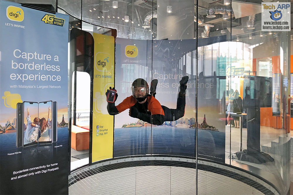 Digi Launches Huawei P20 With Indoor Skydiving Experience!