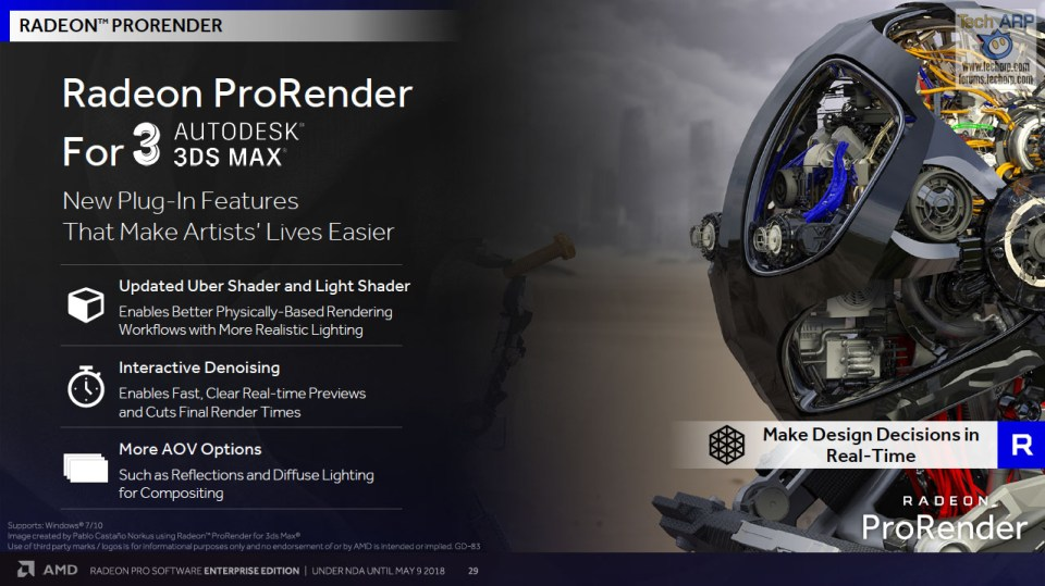 Radeon Pro Software Enterprise Edition 18Q2 Tech Report
