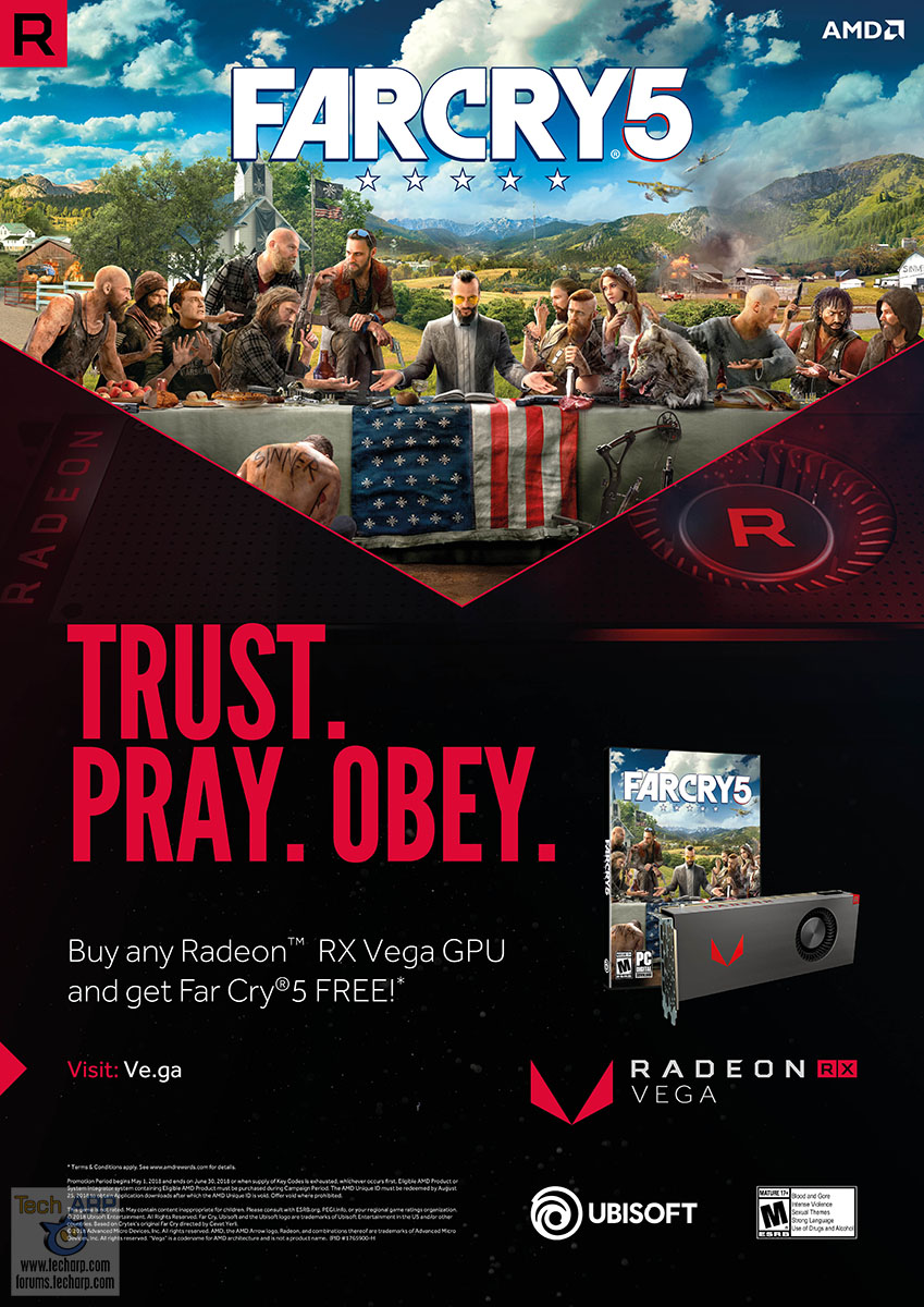 FREE Far Cry 5 with every Radeon RX Vega graphics card!