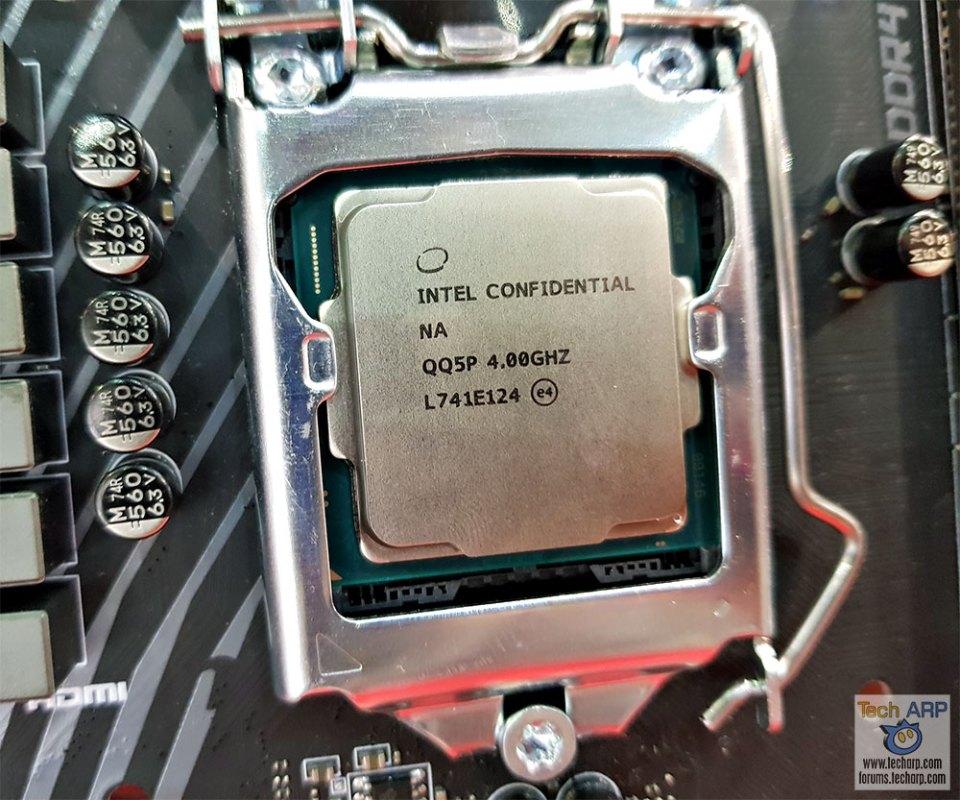 Intel Core i7-8086K Preview