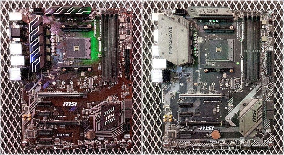 MSI B450A-Pro + MSI B450 Tomahawk Preview